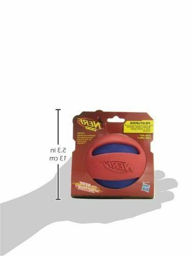 NEW!! Nerf and Rubber Dog Toy, Red