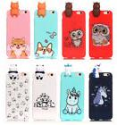 Cute Animal Soft Silicone TPU Back Bumper Case Cover with To