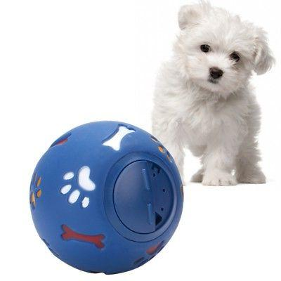 """Dog Durable Rubber Ball Toy 3"""" 4"""" Medium / Large Treat Dispe"""