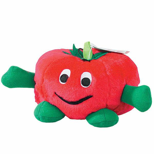 Zanies - Dog Puppy Plush Toy - Giggling Veggies - Carrot Egg