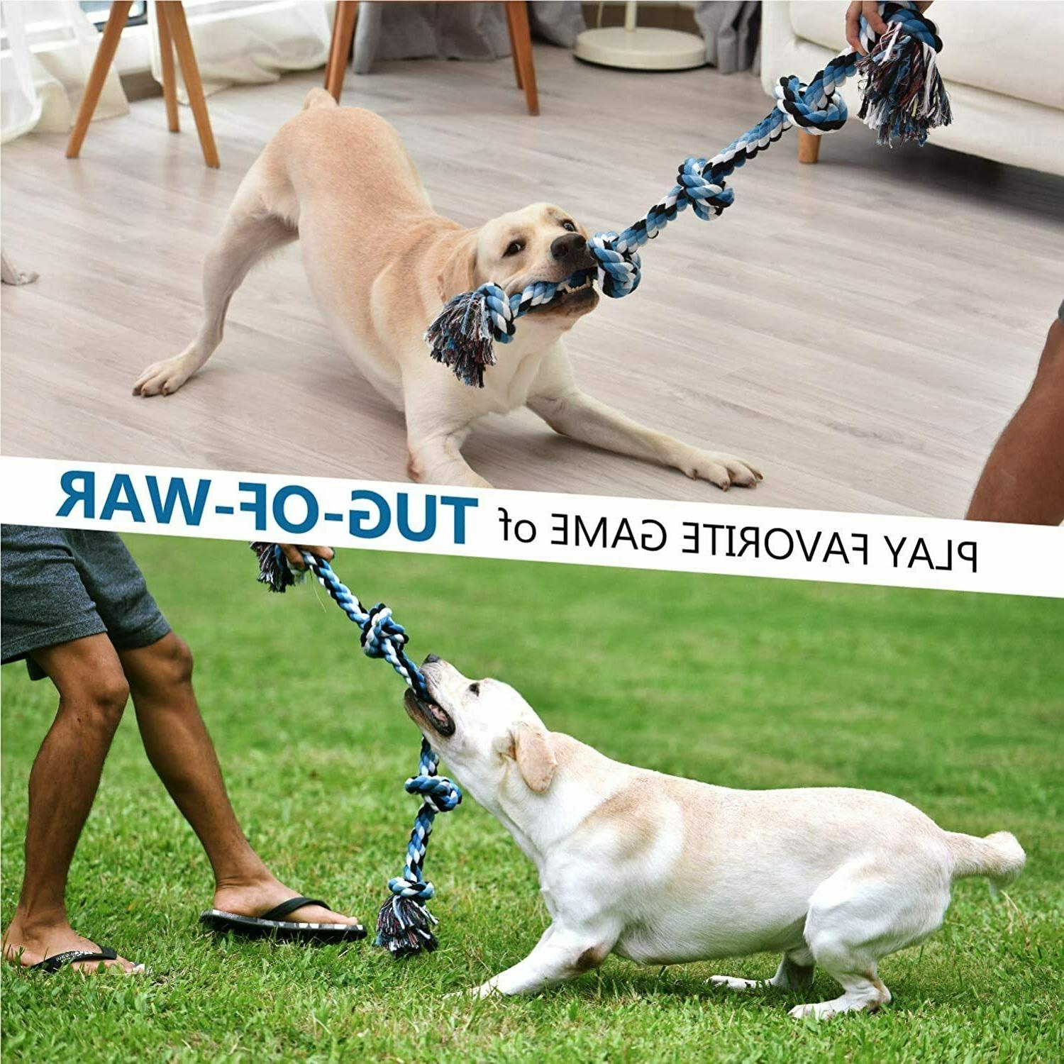 Dog Rope Toy Aggressive Chewers - to Breed Dogs | Extra-Large