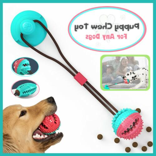 New Pet Dog Floor Suction Cup Ball Toy Puppy Cat Teeth Clean