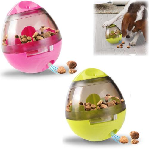 Dog Treat Dispenser Toy Interactive IQ Ball Food Chew Puppy