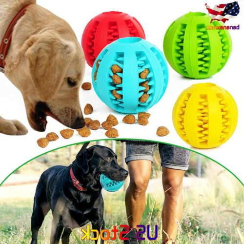 durable rubber ball chew pet dog puppy