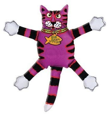 Fat Cat Squeak Dog Toy Terrible Nasty Scaries Assorted Style