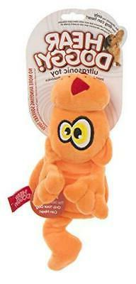 Hear Doggy Flattie Orange Cat Ultrasonic Silent Squeaker Dog