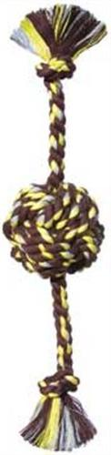 Mammoth Flossy Chews Color Monkey Fist Ball with Rope Ends,