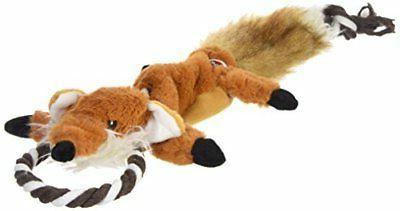 forest fox skinneeez tugs stuffingless dog toy