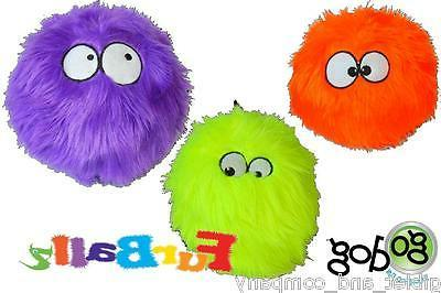 FURBALLZ Fuzzy Ball Dog Toy Go Dog Just for Me Chew Guard Te