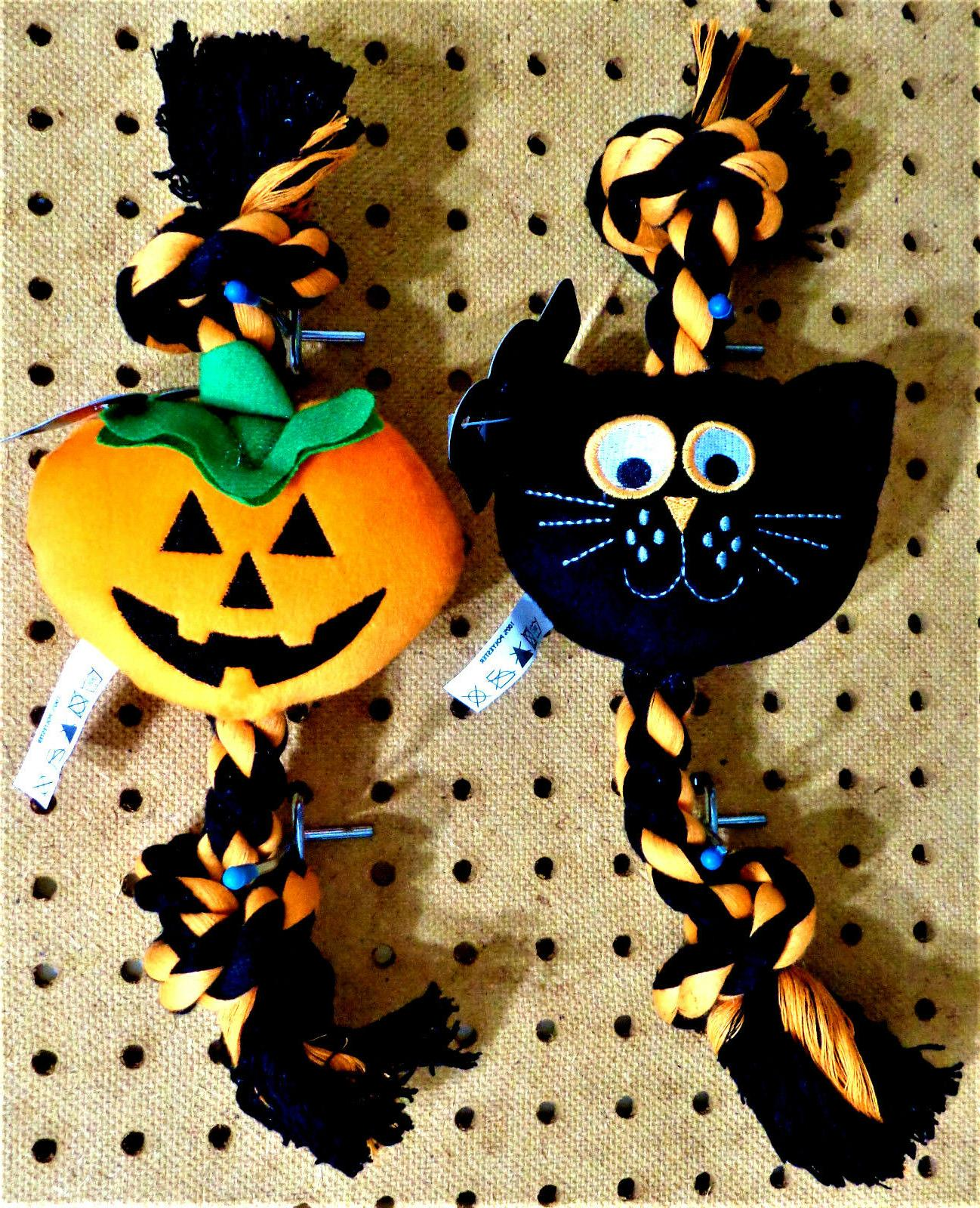 halloween 12 squeaky plush and braided rope