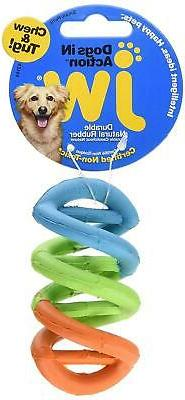 Hard Natural Rubber For Puppies Small Dog Chew Toy Colors Vary New