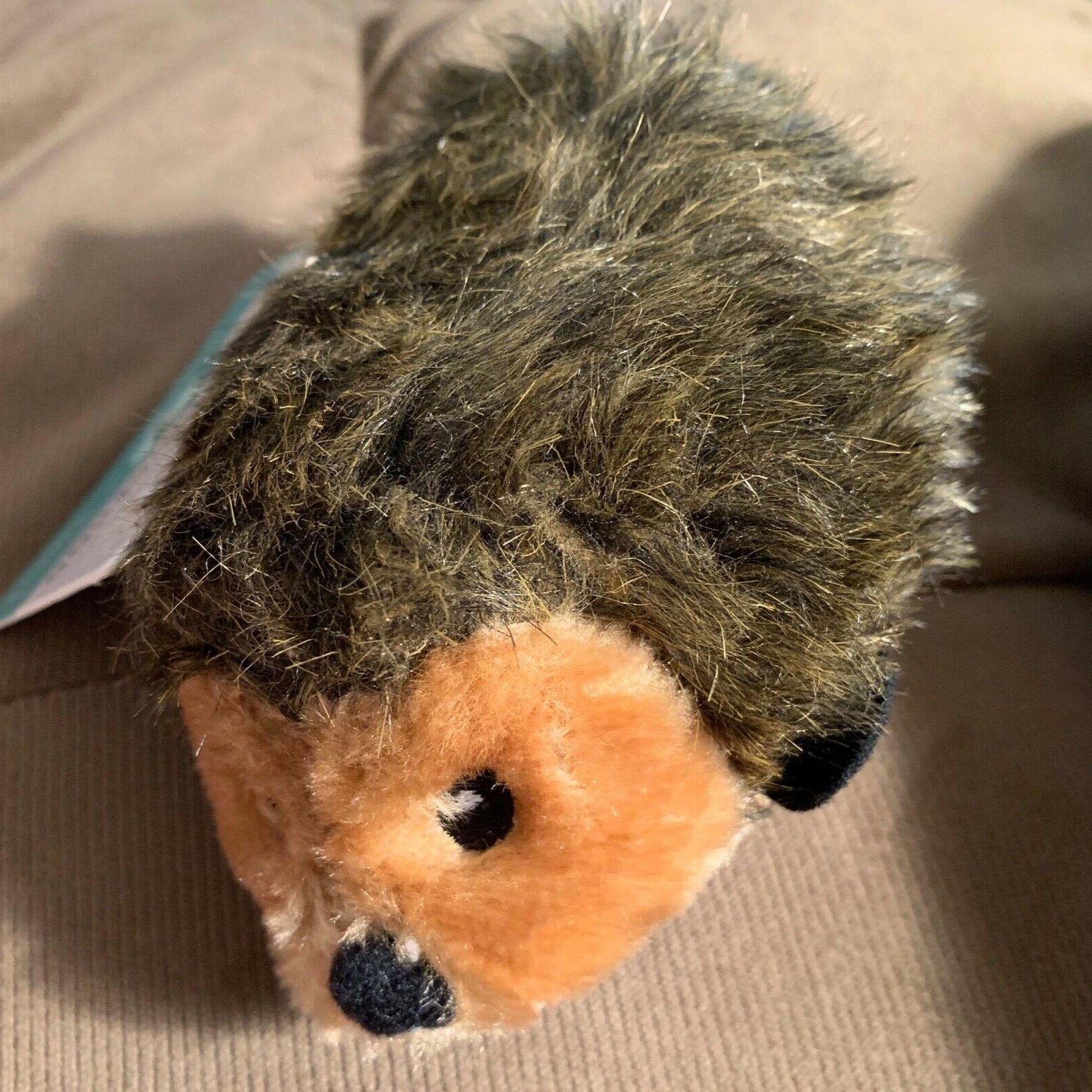 hedgehog squeaky plush dog toy
