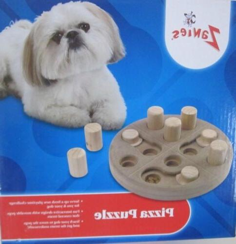 Interactive Puzzle Toy for your Dog Puppy Wooden Pizza Puzzl