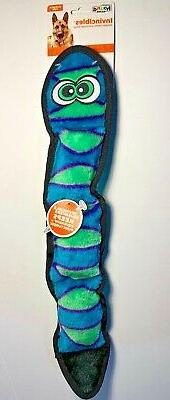 Outward Hound Invincibles Orange Blue 3 Squeak Snake. **Free
