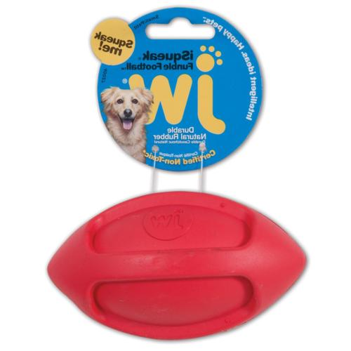 isqueak funble football dog toy