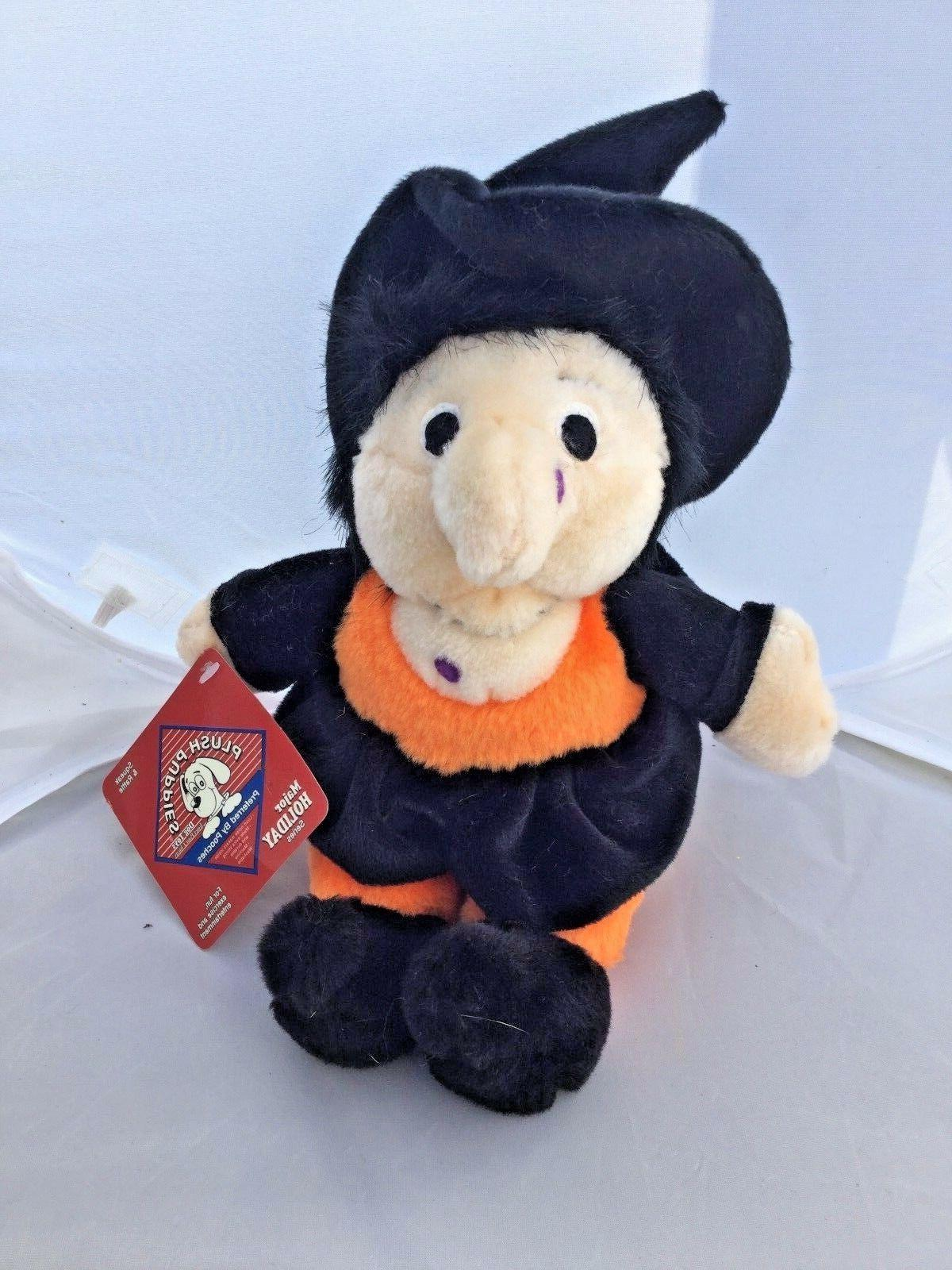 Kyjen Plush Puppies Halloween Witch Large Stuffed Squeaks Ra