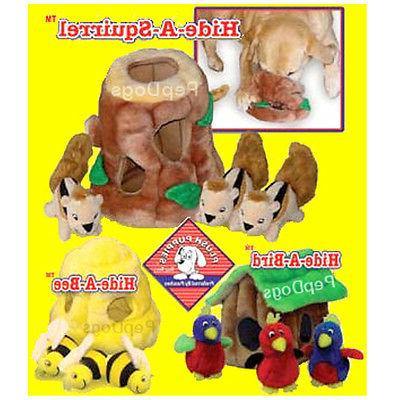 Outward Hound KYJEN Plush Puppies Hide a Toy Dog Squeaky Puz