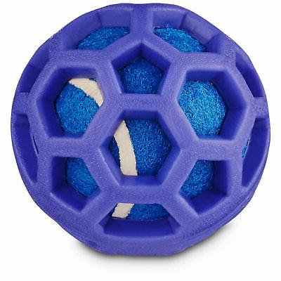 Leaps & Bounds Chomp and Chew Tennis Ball Dog Toy With TPR C