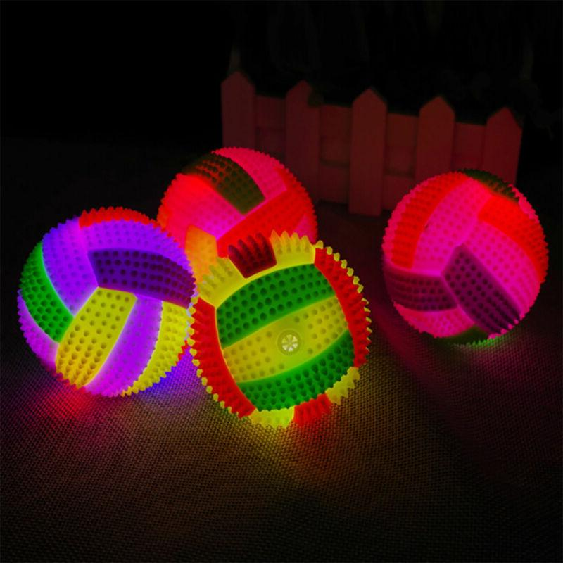LED Volleyball Flashing Light Up Color Changing Bouncing Hed