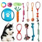 NEW Lovely Puppy Dog Pet Chew Toy Cotton Braided Bone Rope C