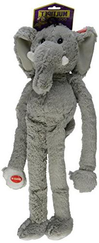 MultiPet 22371 Swingin Safari Elephant Plush Toy