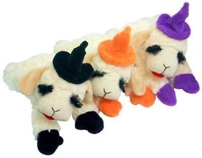 NEW Halloween Dog Toy Lamb Chop Witch Hat in Orange, Purple