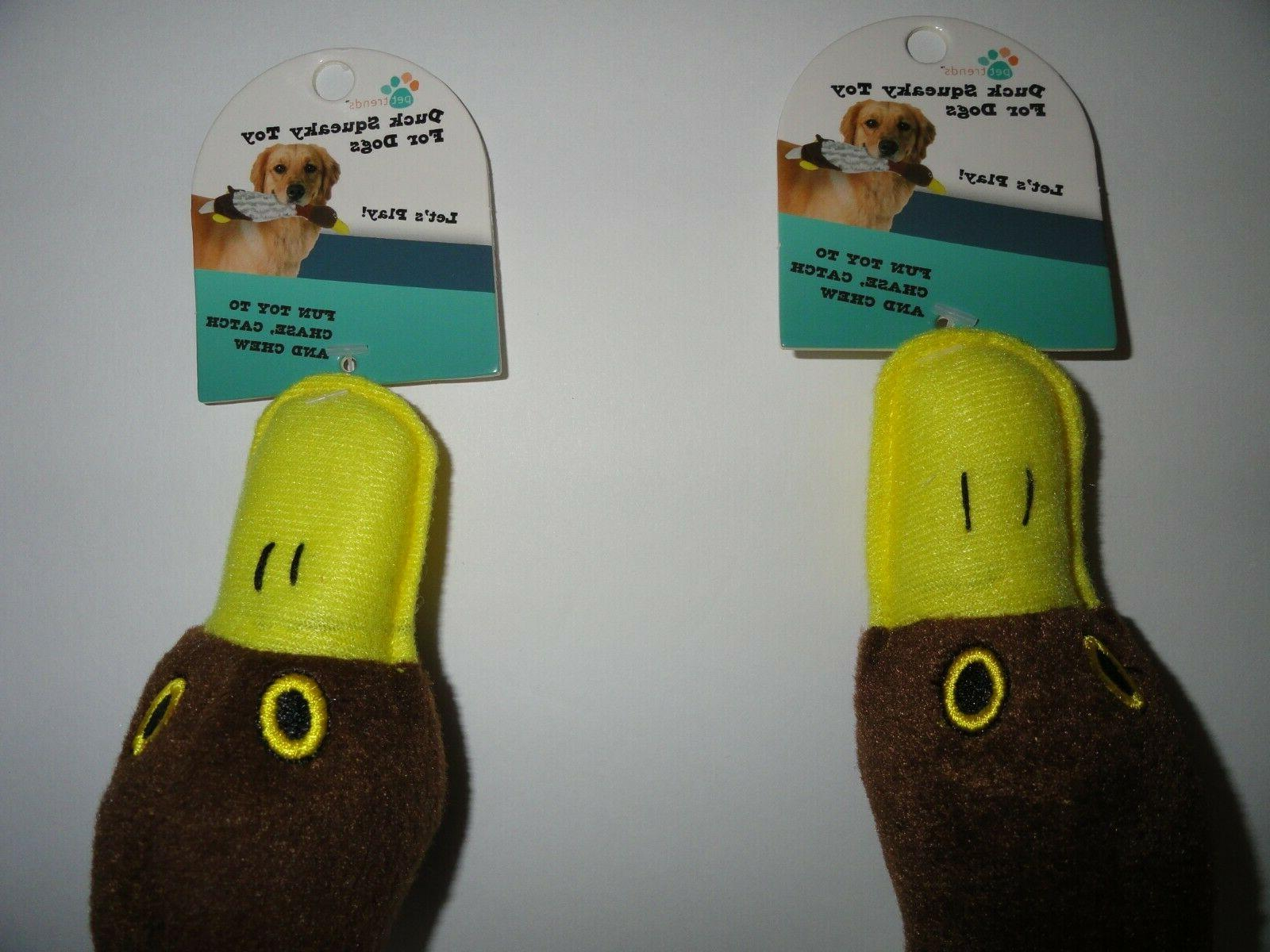 NEW-Lot Duck Puppy Dog Toy Squeaky