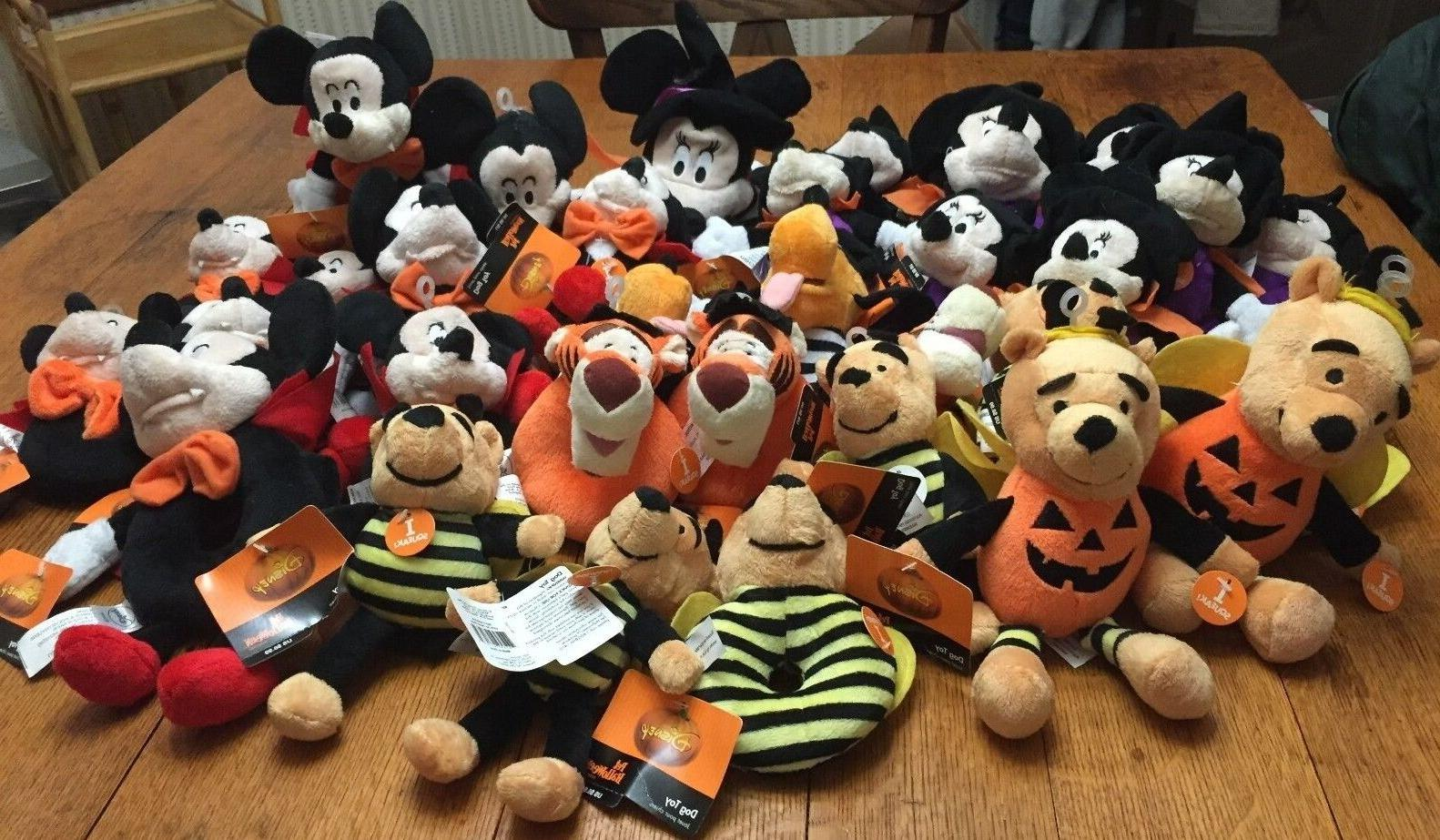 NWT Disney Squeaky Dog Toys Halloween themed Choose Characte