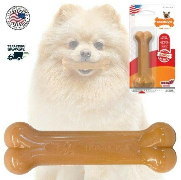 Nylabone Durable Pooch Pacifier Bacon Flavored Dog Bone Chew