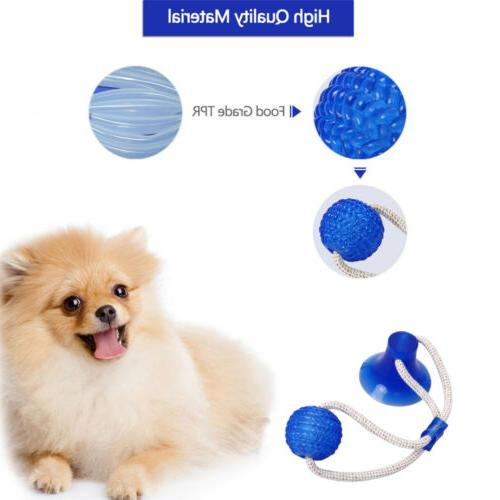 Pet Dog Suction Cup Teeth Cleaning Chewing Playing Toy New