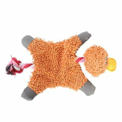Pet Dog Puppy Squeaky Play Toys Plush Chew