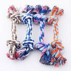 Pet Puppy Dog Cotton Knot Braided Multi color Teeth Clean Ch
