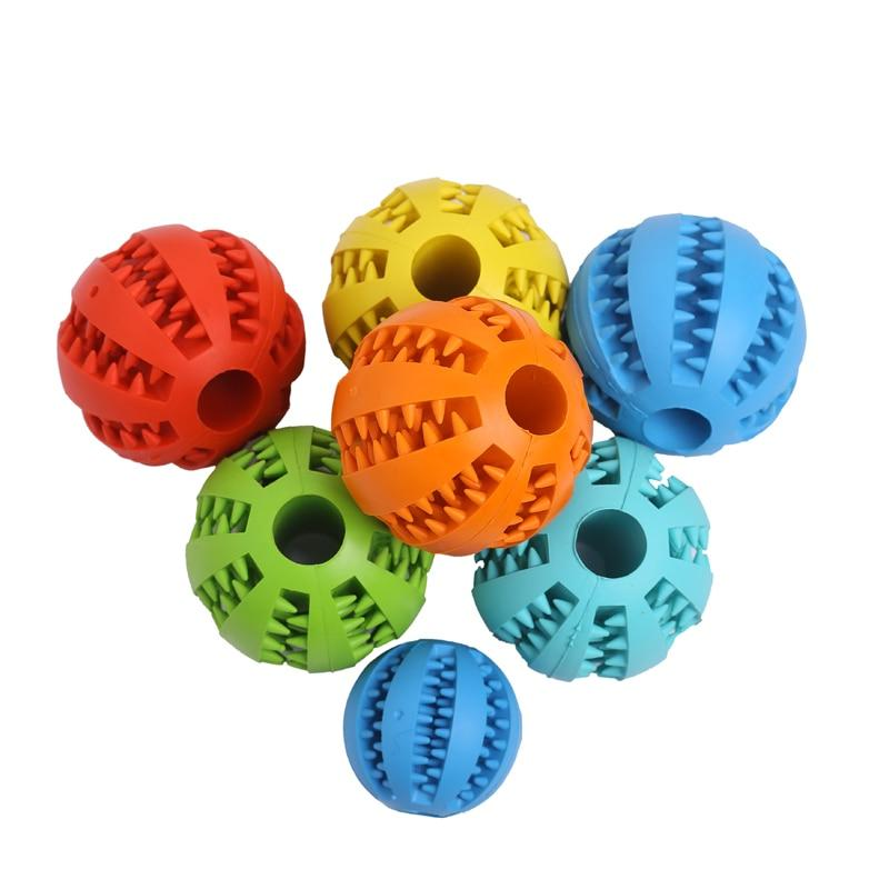 Pet Sof <font><b>Toys</b></font> Elasticity Ball <font><b>Toy</b></font> Tooth Clean Ball Food Extra-tough Rubber Ball