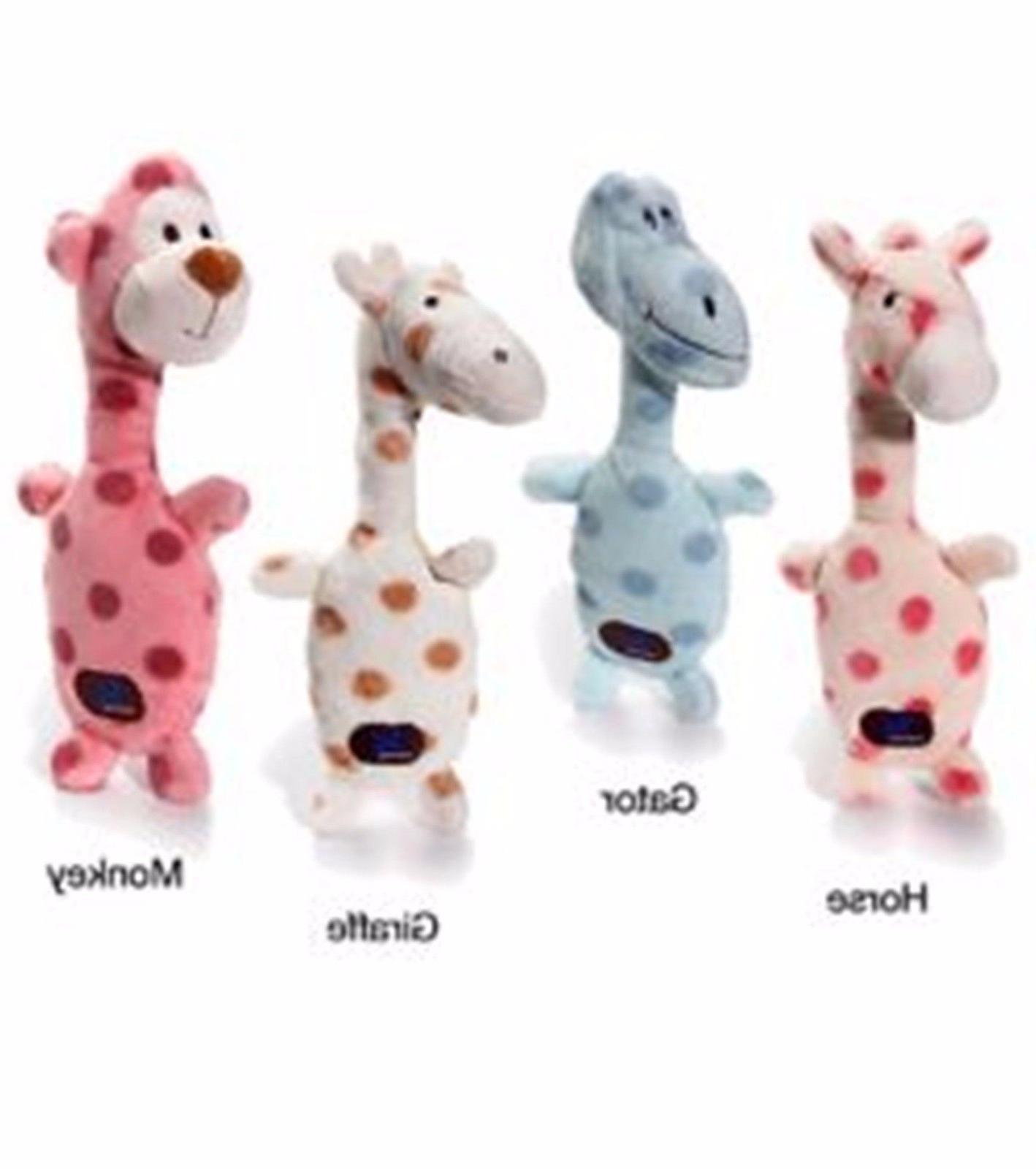 Charming Pet Poppin Polkies Dog Toy Horse Giraffe Monkey Or