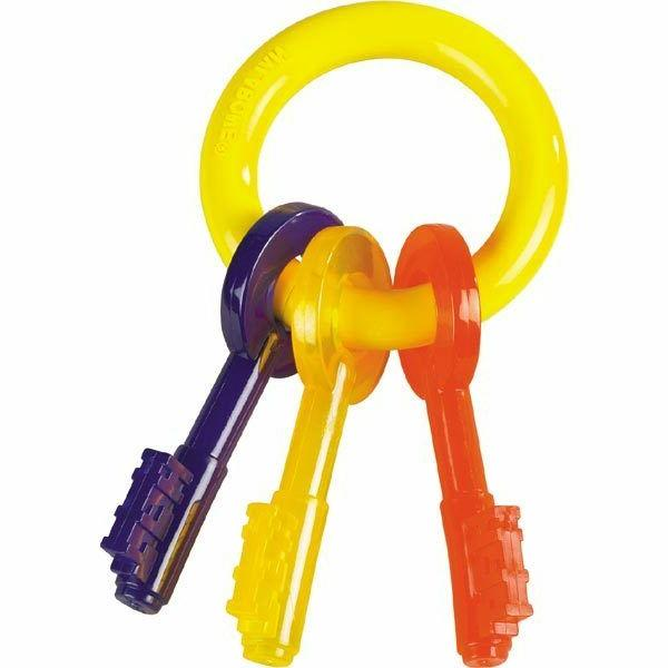 Puppy Teething Toy Key Ring Colorful Safe For Puppies Dogs t