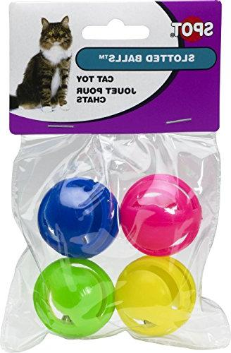 slotted balls cat toy