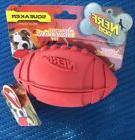"NERF Dog Squeaker Rubber Football Dog Chew Toy Red, 5.5"" I"