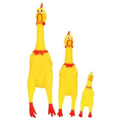 LARGE Squeaker Chew Screaming Chicken Pet Dog Play US