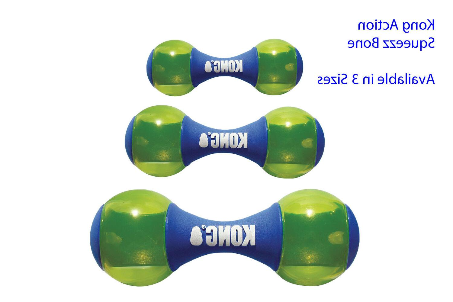 squeezz action dumbbell dog toy blue free