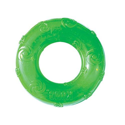 squeezz ring dog toy