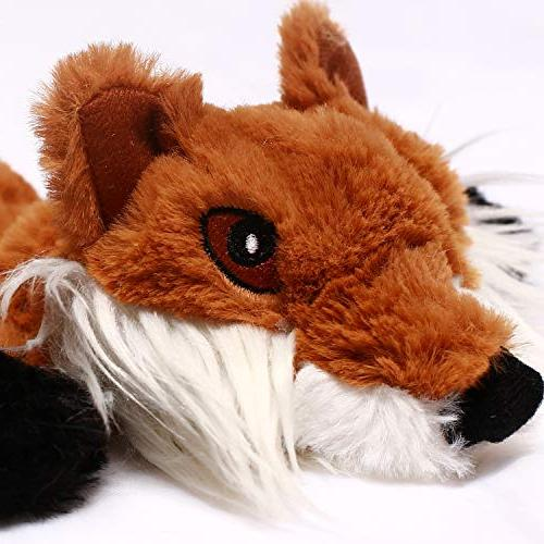 CNMGBB No Stuffing Toys with Durable Stuffingless Dog Chew Toy Large 5 Raccoon and