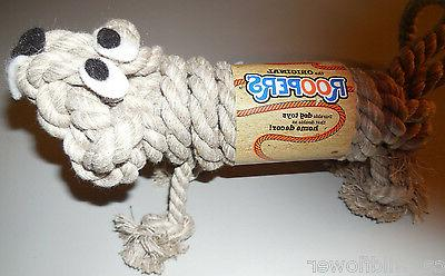 The Original Roopers Rope Toy Chew Fetch Beige Total 12 NEW