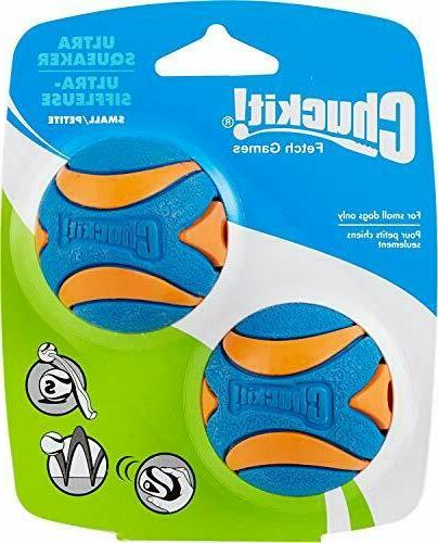 Chuck It! Ultra Squeaker Ball, Small 2ct