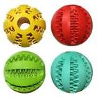 Unisex Pet Dog Ball Teeth Silicon Toy Chew Squeaker Squeaky