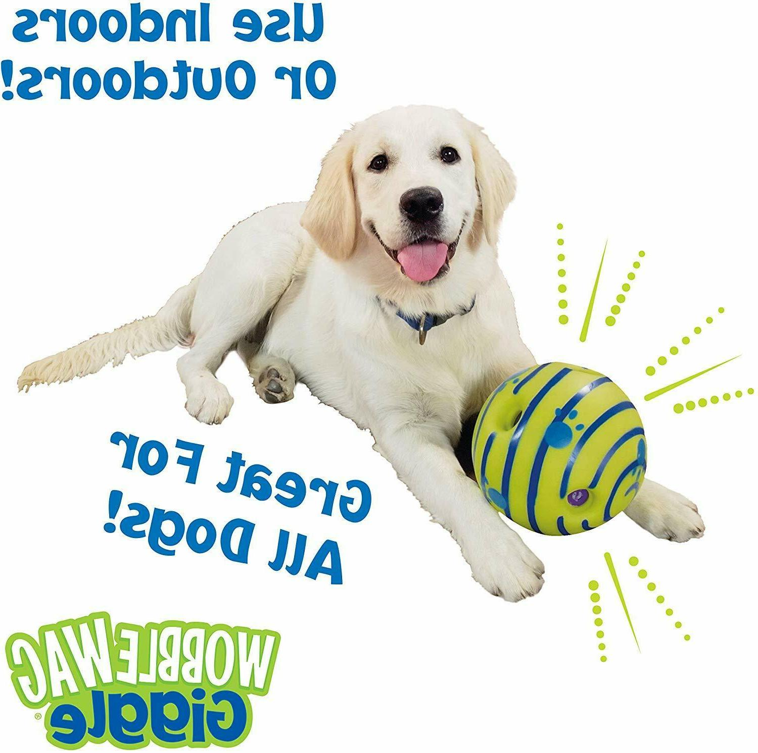 Wobble Interactive Dog Toy,Fun Sounds When Rolled、Shaken