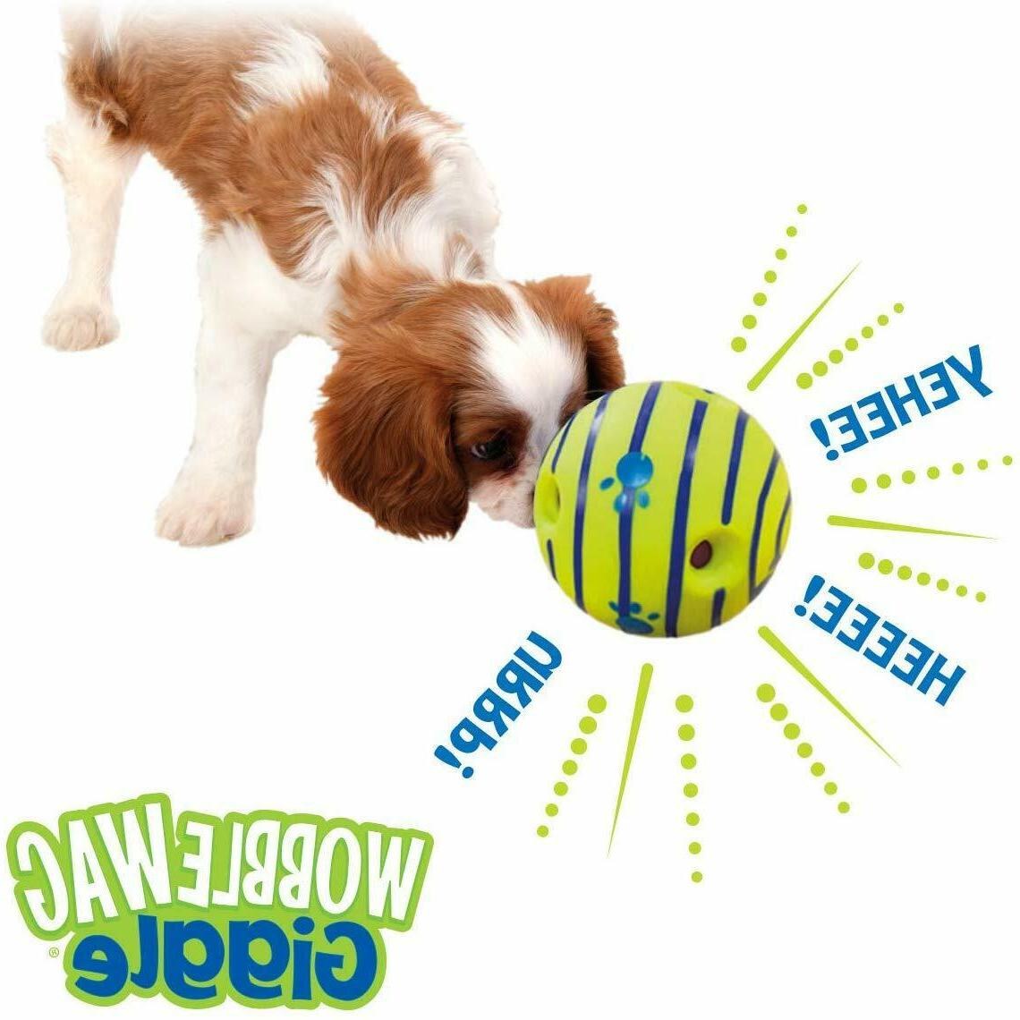 Wobble Wag Interactive Dog Toy,Fun Giggle Sounds When Rolled、Shaken