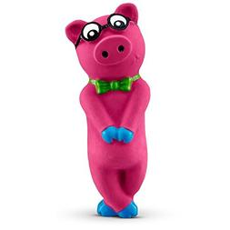 Leaps & Bounds Bashful Nerdy Pig Latex Dog Toy, Small by Lea