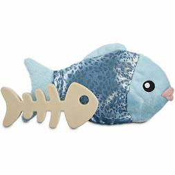 """Leaps & Bounds Play Plush Fish Dog Toy, 9.5"""""""