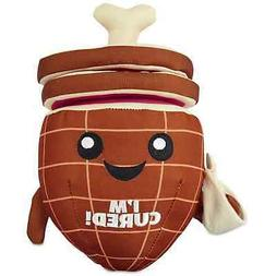 """Leaps & Bounds Play Plush Ham with Rings Dog Toy, 9"""""""