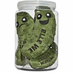 """Leaps & Bounds Play Plush Pickle Jar Dog Toy, 6.5"""""""